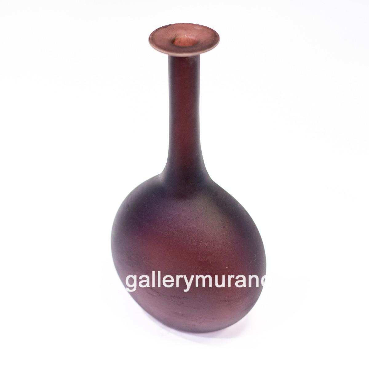 Ваза-бутылка Scavo бордовая