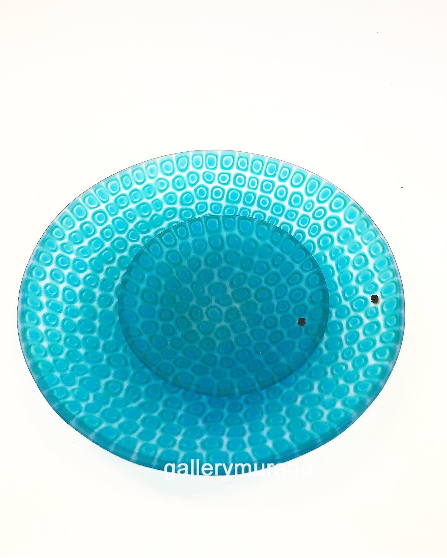 Тарелка матовая Moretti синяя