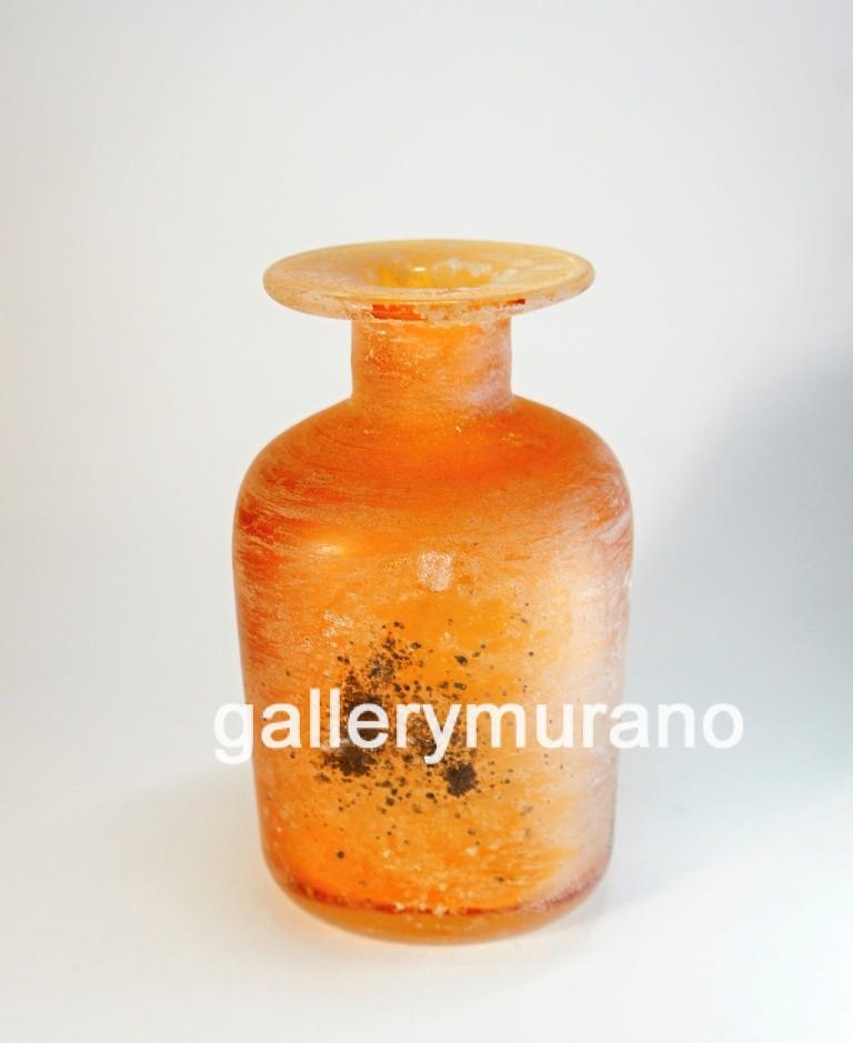 Ваза - бутылка Scavo оранжевая