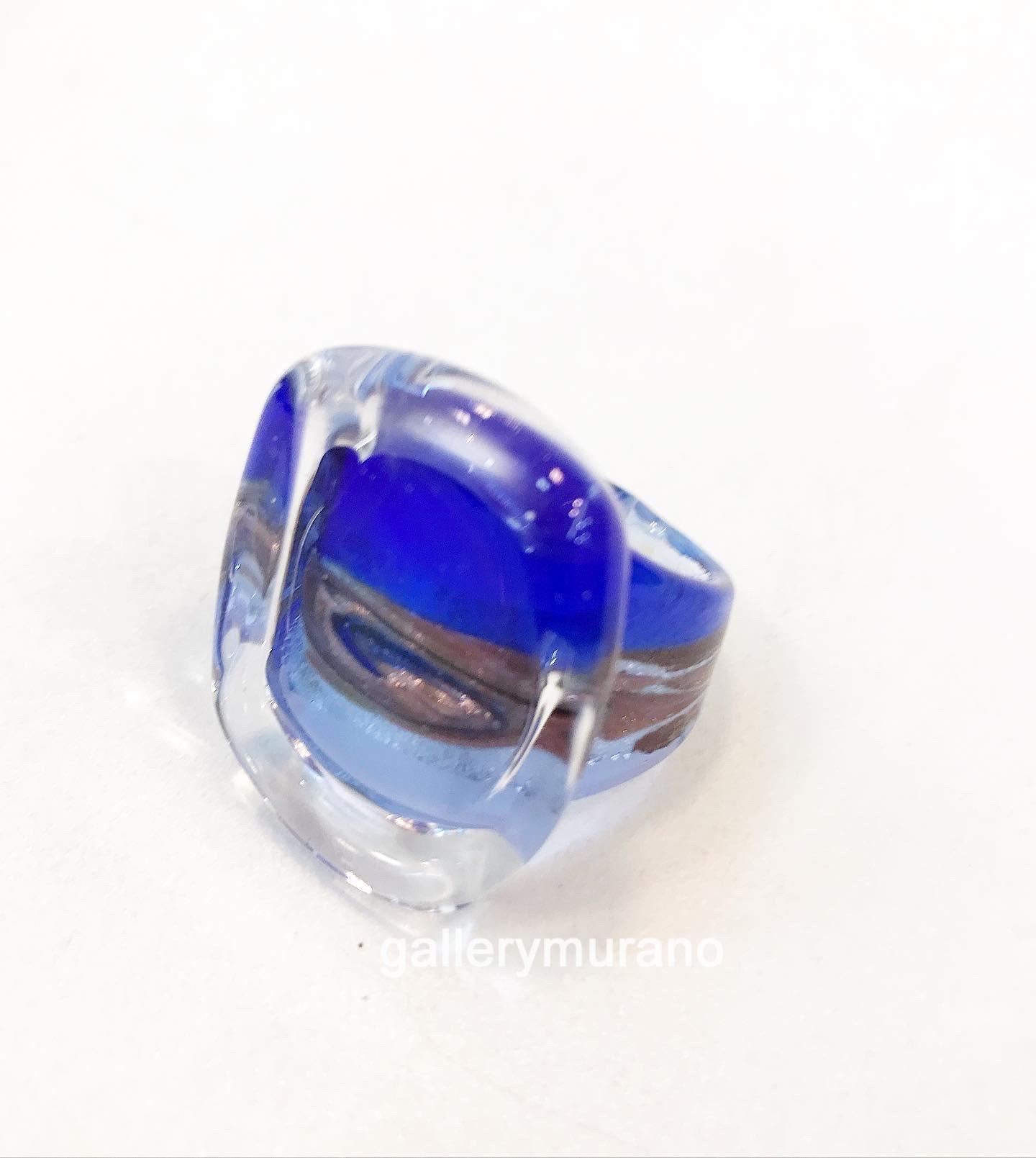 """Кольцо """"Аква"""" голубое"""
