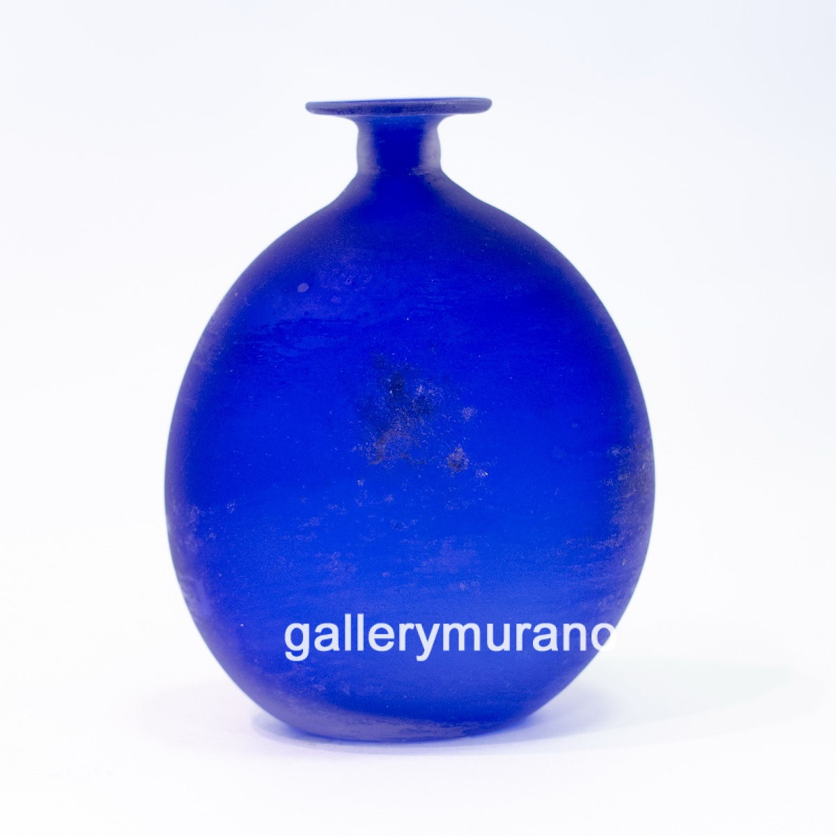 Ваза - бутылка Scavo синяя