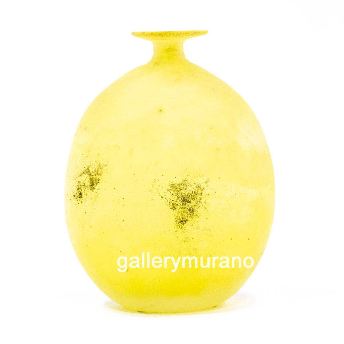 Ваза - бутылка Scavo желтая